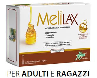 ABOCA MELILAX - microclisma con promelaxin - 6 microcliscmi da 10g ciascuno per adulti e ragazzi