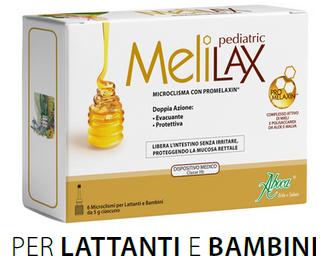 ABOCA MELILAX PEDIATRIC - microclisma con promelaxin - 6 microcliscmi da 5g ciascuno per lattanti e bambini