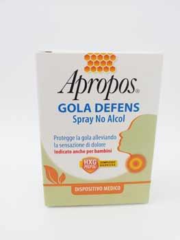 APROPOS GOLA DEFENS SPRAY NO ALCOL - 20 ML