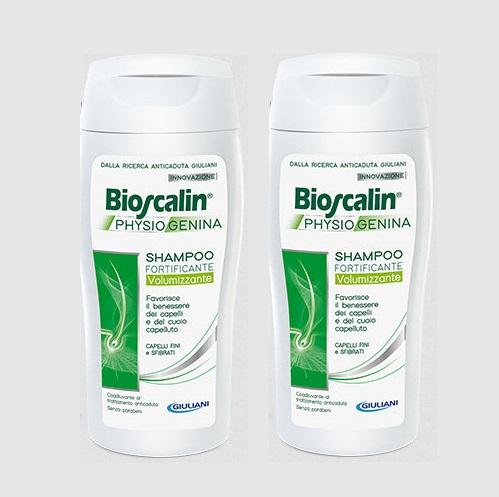 BIOSCALIN PHYSIOGENINA SHAMPOO FORTIFICANTE VOLUMIZZANTE 200 + 200 ml