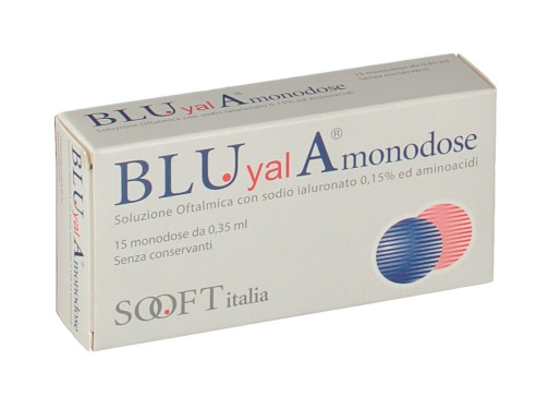 BLUYAL A MONODOSE SOLUZIONE OFTALMICA 15 FLACONCINI