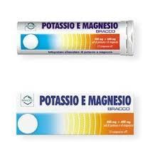 BRACCO POTASSIO E MAGNESIO - 20 COMPRESSE EFFERVESCENTI