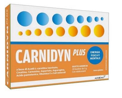 CARNIDYN PLUS INTEGRATORE ALIMENTARE ENERGETICO - 20 BUSTINE DA 5 G