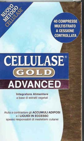 CELLULASE GOLD advanced integratore anti cellulite 40 cpr
