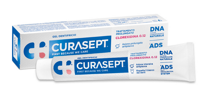 CURASEPT GEL Dentifricio 75 ml 0.12 Trattamento prolungato