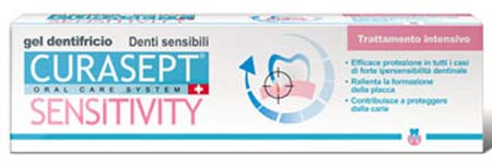 CURASEPT Sensitivity gel dentifricio 50 ml Trattamento intensivo