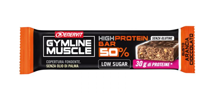 ENERVIT GYMLINE MUSCLE HIGH PROTEIN BAR 50% ARANCIA CIOCCOLATO