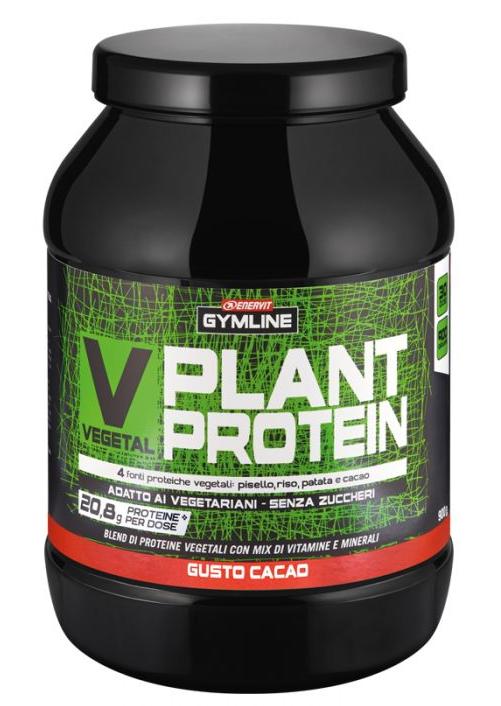 ENERVIT GYMLINE MUSCLE VEGETAL PLANT PROTEINE CACAO 900g