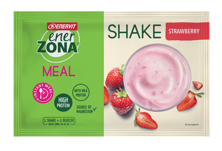 ENERZONA INSTANT MEAL 40-30-30 gusto fragola yogurt 1 busta