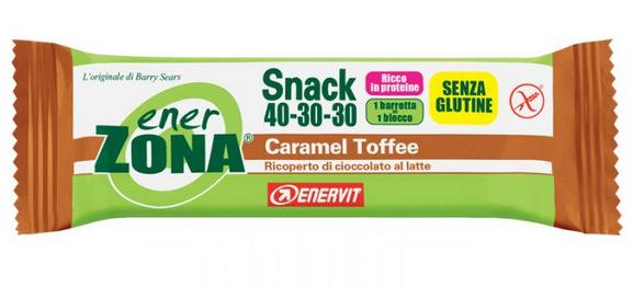 ENERZONA SNACK 40-30-30 barrette caramel toffe 1 pz