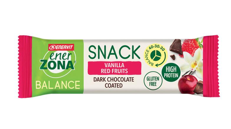 ENERZONA SNACK 40-30-30 barrette gusto VANILLA RED FRUITS 33gr