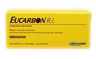 EUCARBON R.I. INTEGRATORE PER LA REGOLAZIONE DEL TRANSITO INTESTINALE - 40 COMPRESSE