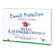 EUMILL PROTECTION STRESS VISIVI - GOCCE OCULARI LUBRIFICANTI ED IDRATANTI ALLA MALVA E ACIDO IALURONICO - 10 PIPETTE MONODOSE