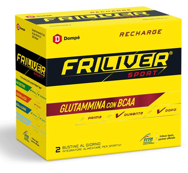 FRILIVER SPORT RECHARGE GLUTAMMINA BCAA 8 BUSTINE