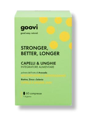 GOOVI STRONGER BETTER LONGER INTEGRATORE ALIMENTARE CAPELLI & UNGHIE 60 COMPRESSE