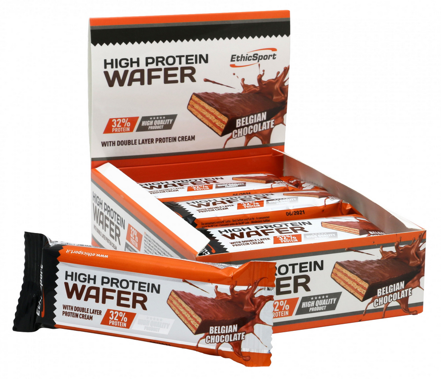 HIGH PROTEIN WAFER ETHICSPORT BELGIAN CHOCOLATE