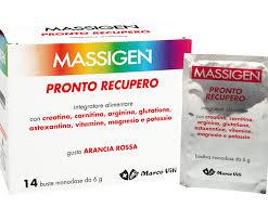 MASSIGEN PRONTO RECUPERO - INTEGRATORE ALIMENTARE GUSTO ARANCIA ROSSA - 14 BUSTE DA 6 G