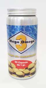 MEGA 3 OMEGA - OMEGA 3 AD ALTA CONCENTRAZIONE - 90 CAPSULE DA 1 G