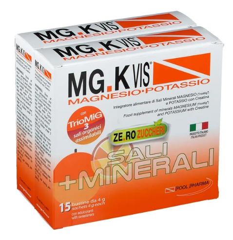 MG K VIS INTEGRATORE Magnesio-Potassio 15 BUSTE + 15 OMAGGIO