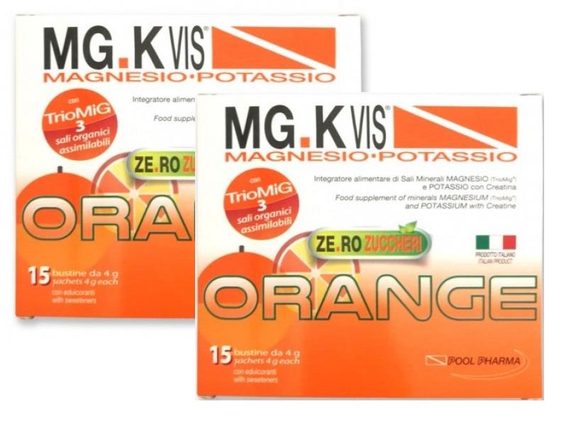 MG K VIS INTEGRATORE MAGNESIO POTASSIO ARANCIA 15 BUSTINE + 15 OMAGGIO