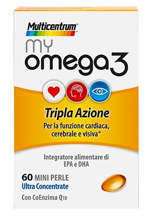 MULTICENTRUM MY OMEGA3 INTEGRATORE ALIMENTARE DI OMEGA 3 60 MINI PERLE