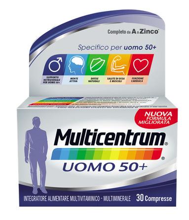 MULTICENTRUM UOMO 50+ 60 COMPRESSE