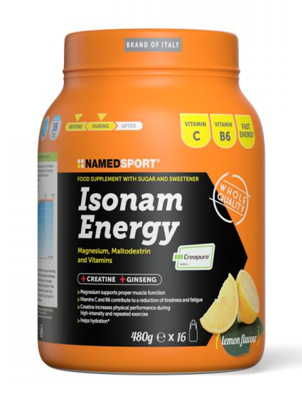 NAMED SPORT ISONAM ENERGY GUSTO LEMON - 480 G