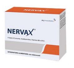 NERVAX INTEGRATORE ALIMENTARE A BASE DI CURCUMA E VITAMINE B6 B12 20 BUSTINE