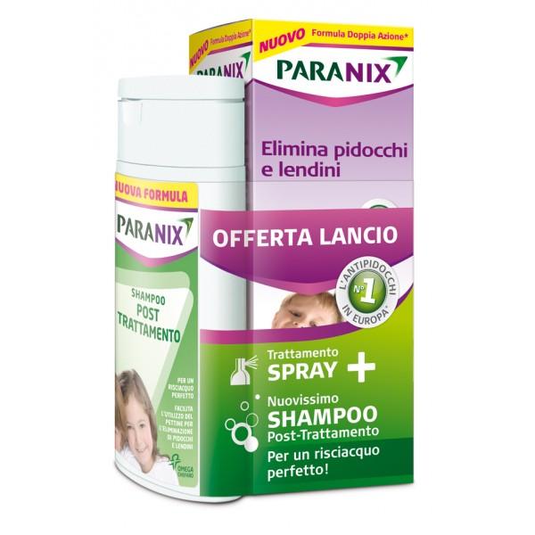 PARANIX SPRAY ANTIPEDICULOSI + SHAMPOO POST TRATTAMENTO+ PETTININO