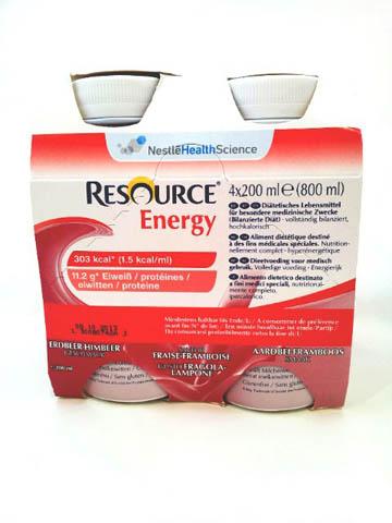 RESOURCE ENERGY - GUSTO FRAGOLA LAMPONE - 4 FLACONI DA 200 ML
