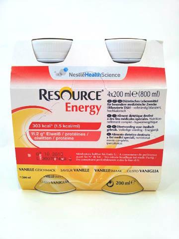 RESOURCE ENERGY - GUSTO VANIGLIA - 4 FLACONI DA 200 ML