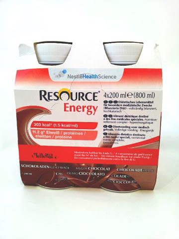 RESOURCE ENERGY - GUSTO CIOCCOLATO - 4 FLACONI DA 200 ML