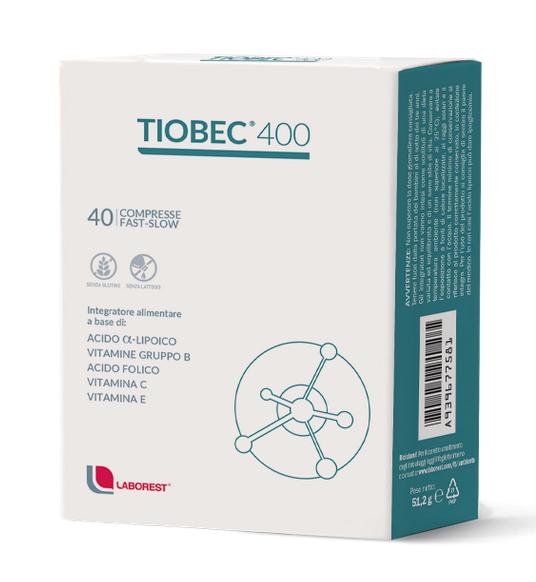 TIOBEC 400 FAST SLOW INTEGRATORE ALIMENTARE DI ACIDO ALFA LIPOICO - 40 COMPRESSE