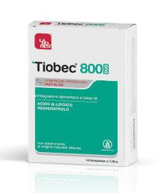 TIOBEC 800 DUO INTEGRATORE ALIMENTARE ACIDO ALFA LIPOICO E RESVERATROLO 14 COMPRESSE ORODISPERSIBILE