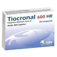 TIOCRONAL 600 HR - INTEGRATORE DI ACIDO ALFA LIPOICO - 20 COMPRESSE