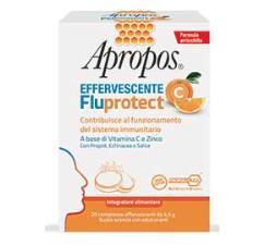 APROPOS FLUPROTECT C 20 Compresse Effervescenti gusto Arancia