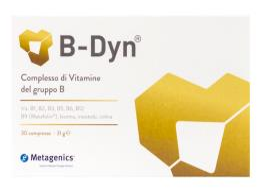 B-DYN INTEGRATORE ALIMENTARE COMPLESSO VITAMINE DEL GRUPPO B 30 COMPRESSE