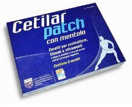CETILAR PATCH 5 CEROTTI PER ARTICOLAZIONI MUSCOLI E TENDINI (ex celadrin)