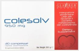 COLESOLV Favorisce il corretto metabolismo 30 compresse