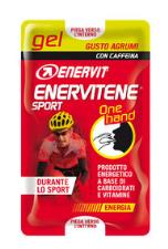 ENERVITENE SPORT GEL ONE HAND GUSTO AGRUMI Con CAFFEINA 5 PACK Doppi
