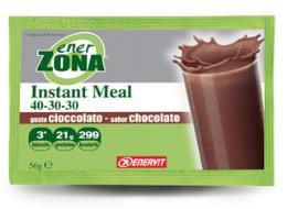 ENERZONA INSTANT MEAL 40-30-30 gusto cioccolato 1 busta 50 gr