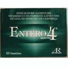 ENTERO 4 INTEGRATORE ALIMENTARE PER LA FLORA BATTERICA - 10 BUSTINE