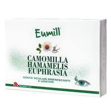 EUMILL GOCCE OCULARI RINFRESCANTI E LENITIVE ALLA CAMOMILLA HAMAMELIS E EUPHRASIA - 10 PIPETTE MONODOSE