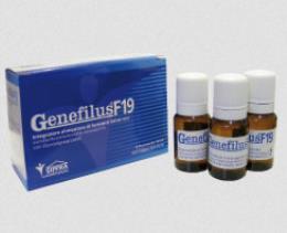 GENEFILUS F19 INTEGRATORE ALIMENTARE DI FERMENTI LATTICI 10 FLACONI
