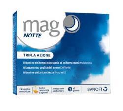 MAG NOTTE INTEGRATORE ALIMENTARE MAGNESIO MELATONINA 24 BUSTINE