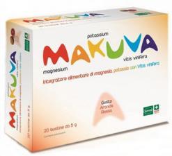 MAKUVA integratore alimentare Magnesio Potassio Vitis vinifera GUSTO ARANCIA ROSSA