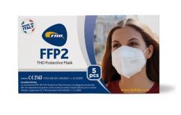 MASCHERINE FFP2 PROTECTIVE MASK BIANCA 5 PEZZI