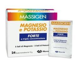 MASSIGEN MAGNESIO E POTASSIO FORTE ZERO ZUCCHERI GUSTO ARANCIA 24 BUSTINE