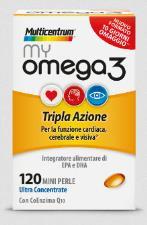 MULTICENTRUM MY OMEGA3 INTEGRATORE ALIMENTARE DI OMEGA 3 - 120 Perle