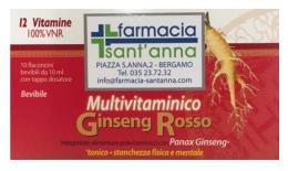 MULTIVITAMINICO GINSENG ROSSO 12 VITAMINE 10 Flconcini